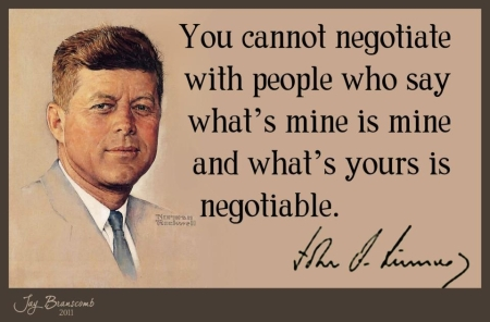 JFK pic and quote