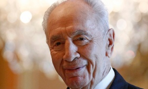 Israel's President Peres speaks during a meeting at Rideau Hall in Ottawa