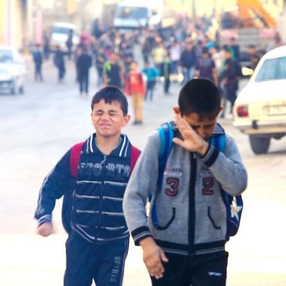 Kinderen en traangas