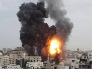 Aanval op Gaza 210414 Gaza