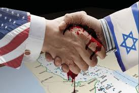 USA bloody handshake with Israel