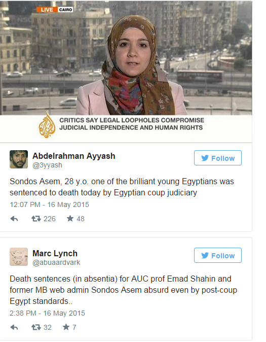 Rechtszaak Egypte