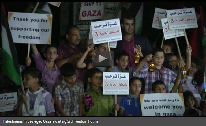 Palestijnen wachten op Flotilla 3