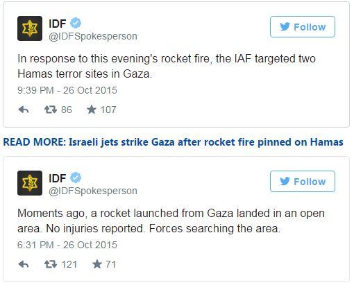 Aanval Gaza 261015