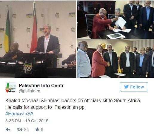 Hamas op bezoek Zuid Afrika