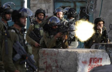 Soldaten schietend Jeruzalem
