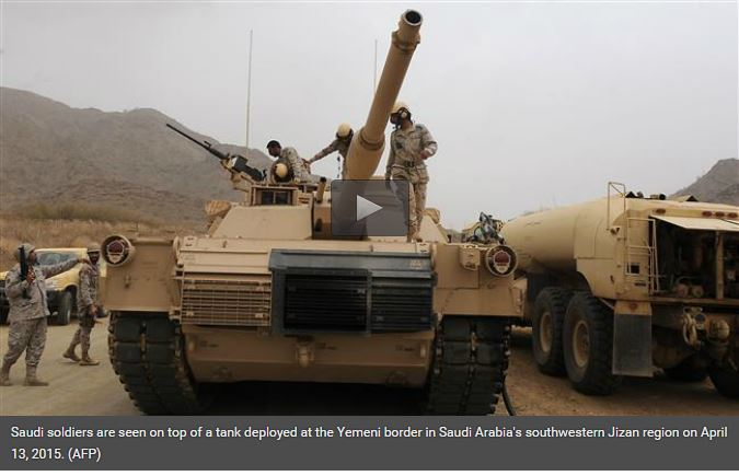 Saudi tank aan grens met Yemen