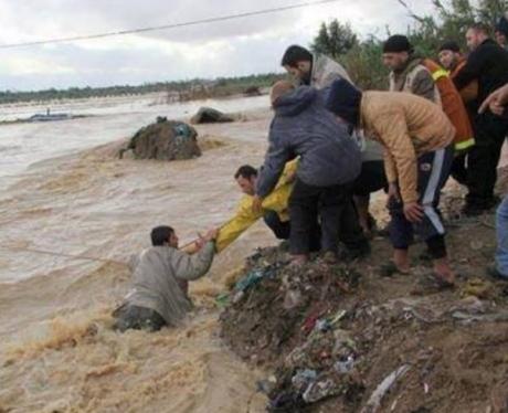 Gaza onder water