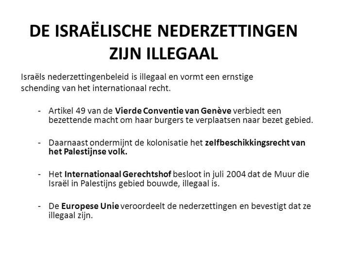 Afbeeldingsresultaat voor uitkering illegale nederzettingen