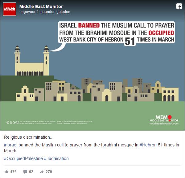Ibrahimi Moskee verbod oproepen tot gebed
