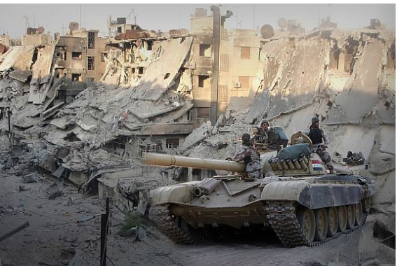Tanks naar Aleppo