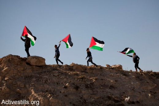Protest against settlements expansion, Azarya, West Bank, 13.2.2