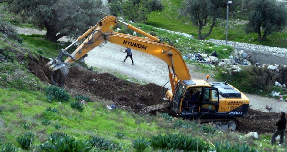 Israelis Raze Palestinian Land In Salfit To Expand Illegal