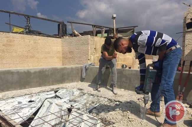 Beit Hanina eigen dak neer moeten halen
