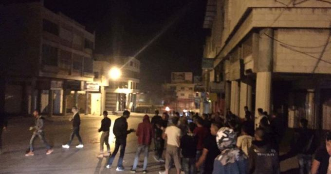 Night clashes Nablus