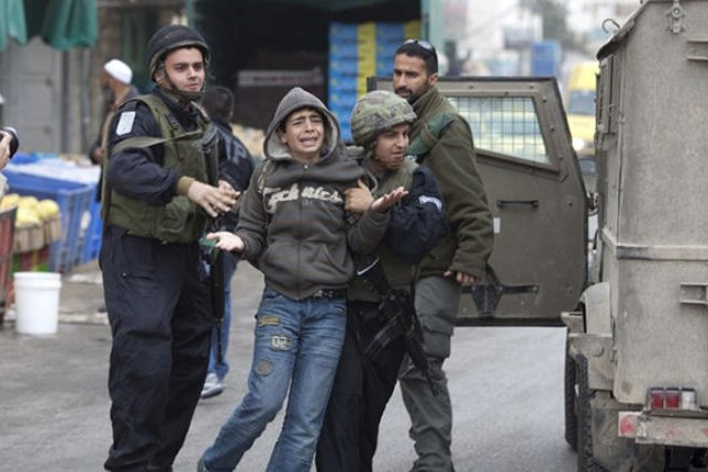 Two Palestinian children arrested