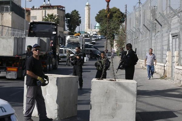 Closing road occupied East Jerusalam