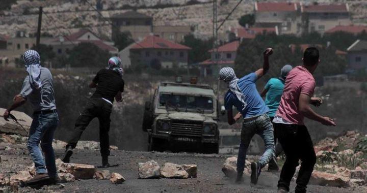 Kafr Qaddoum march injured boy