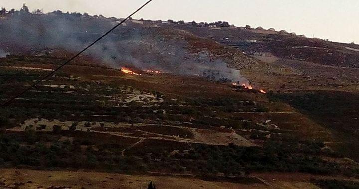 Land Burin in fire