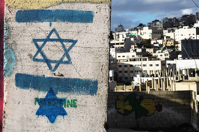 Star of David on wall in Hebron