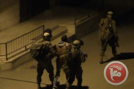 11 Palestinians arrested weapons seized