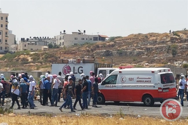 4 Palestinians injured Ramallah1