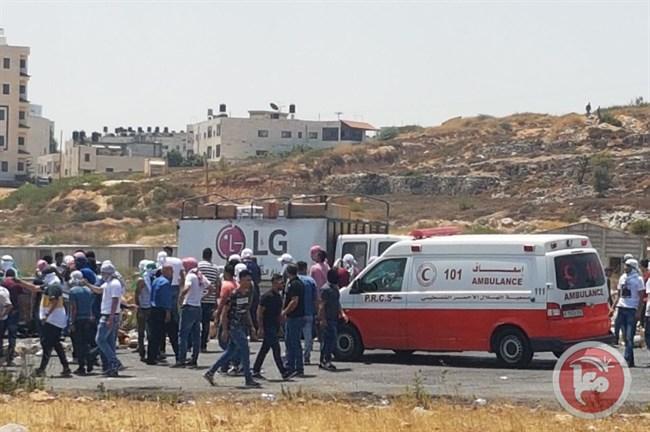 4 Palestinians injured Ramallah1