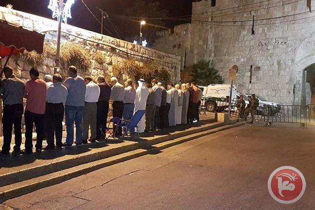 Al-Aqsa after praying1