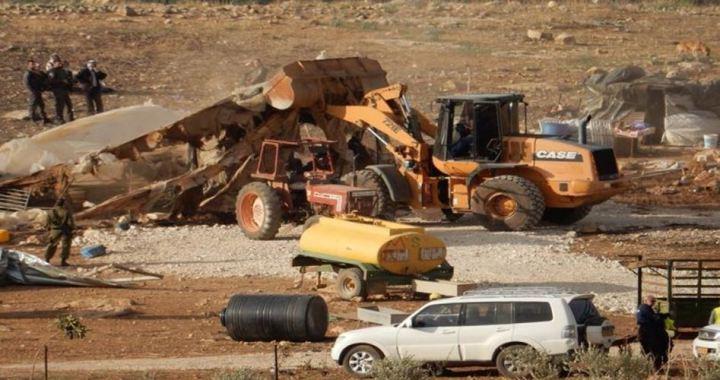 Confiscated waterpump Jordan Valley