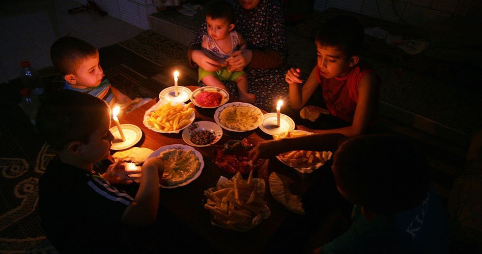 Electricity Supplies reduction Gaza 55 MGW
