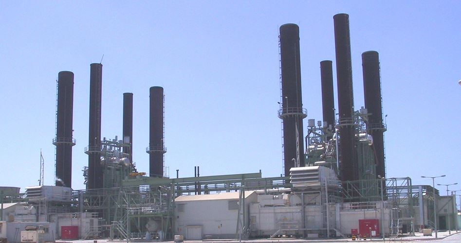 Gaza power plant works