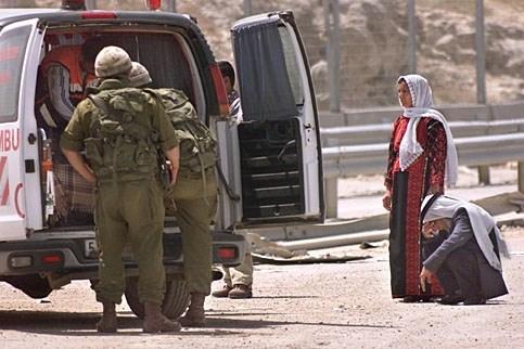 Inspection Palestinian ambulance