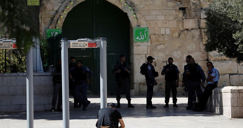 Islamic Awqaf about metal detectors al-Aqsa Mosque