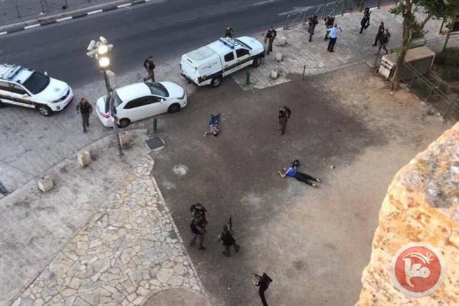 Palestinians shot dead Damascus Gate