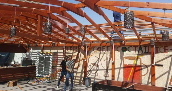 Self-demolished shop al-Kiswani