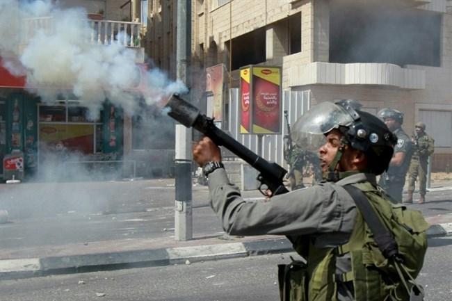 Tear gas shot