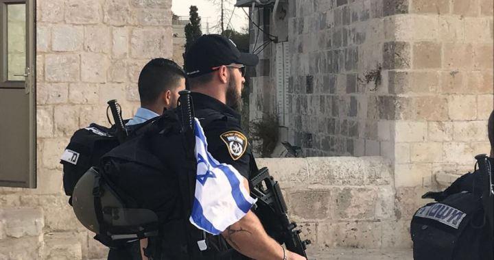 Zio flag in al-Aqsa