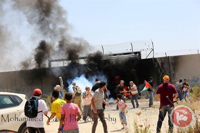 Clashes Bilin march