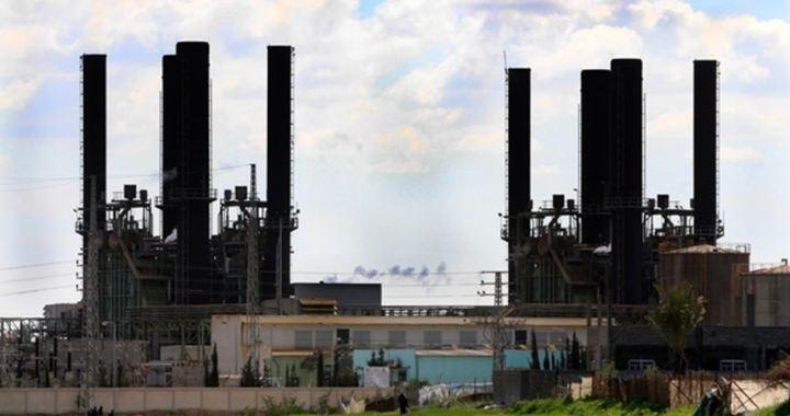 Gaza power plant one sixth