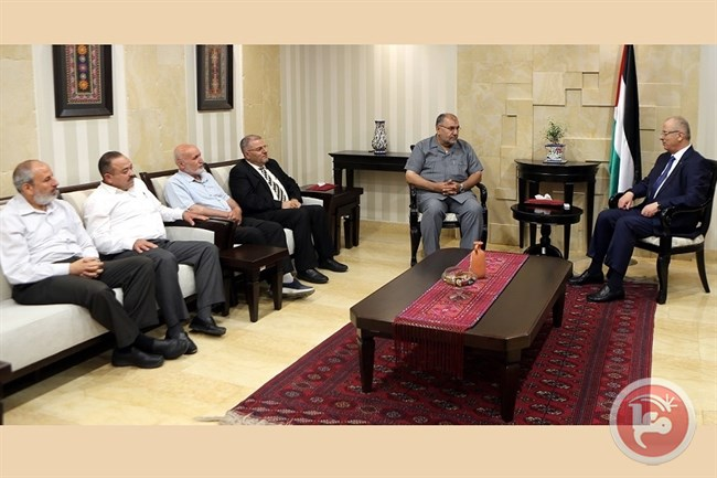 Hamdallah meets MP Hamas
