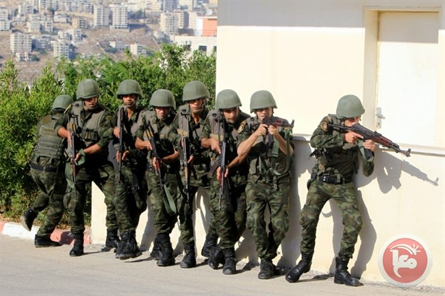 Palestinian security forces again