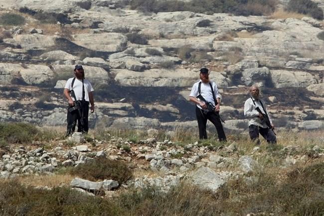 Settlers near Nablus
