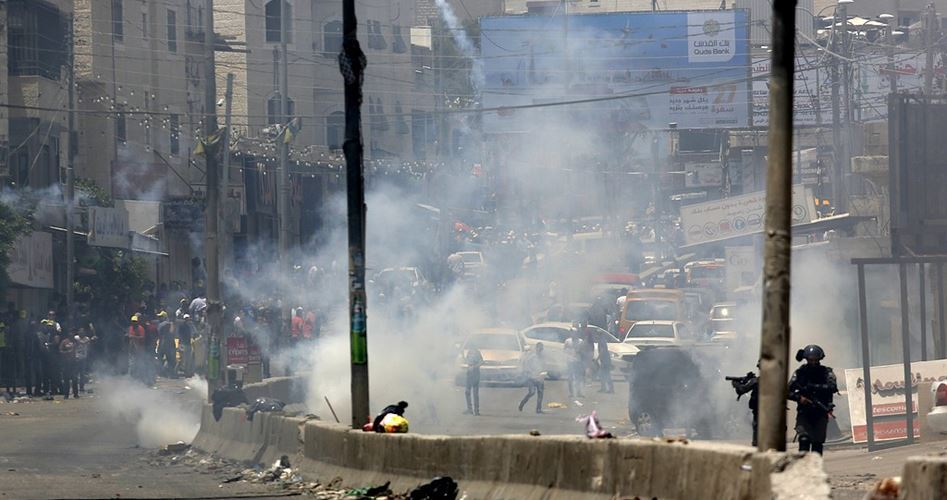 Clashes Ramallah 12 injured