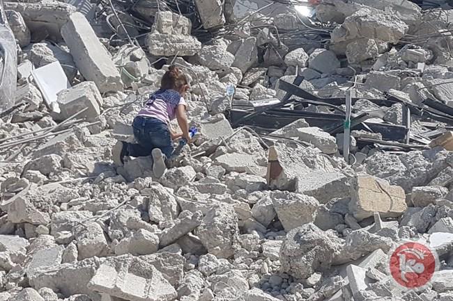 Demolished homes at Silwan
