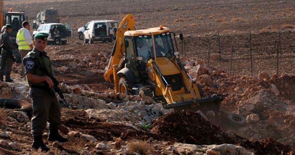 Agricultural road destroyed