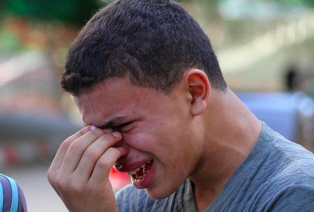 Palestinians shot Gaza