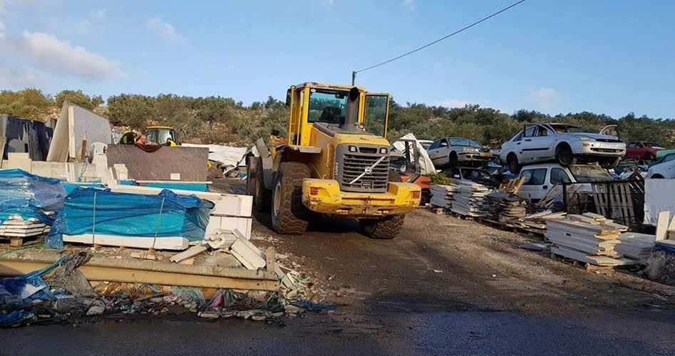Bulldozers razed facilities