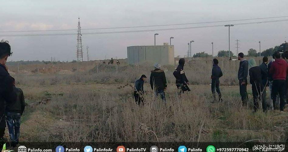 Gunfire east of Gaza