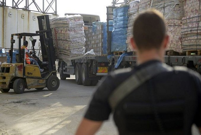 Entrance goods into Gaza