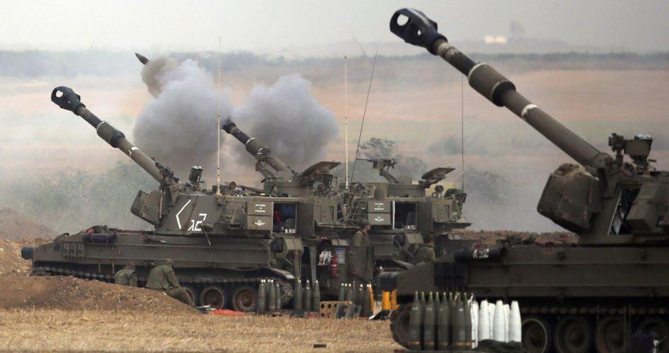 15 shells Gaza